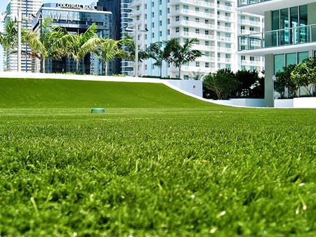 Artificial grass & other budget garden reception ideas