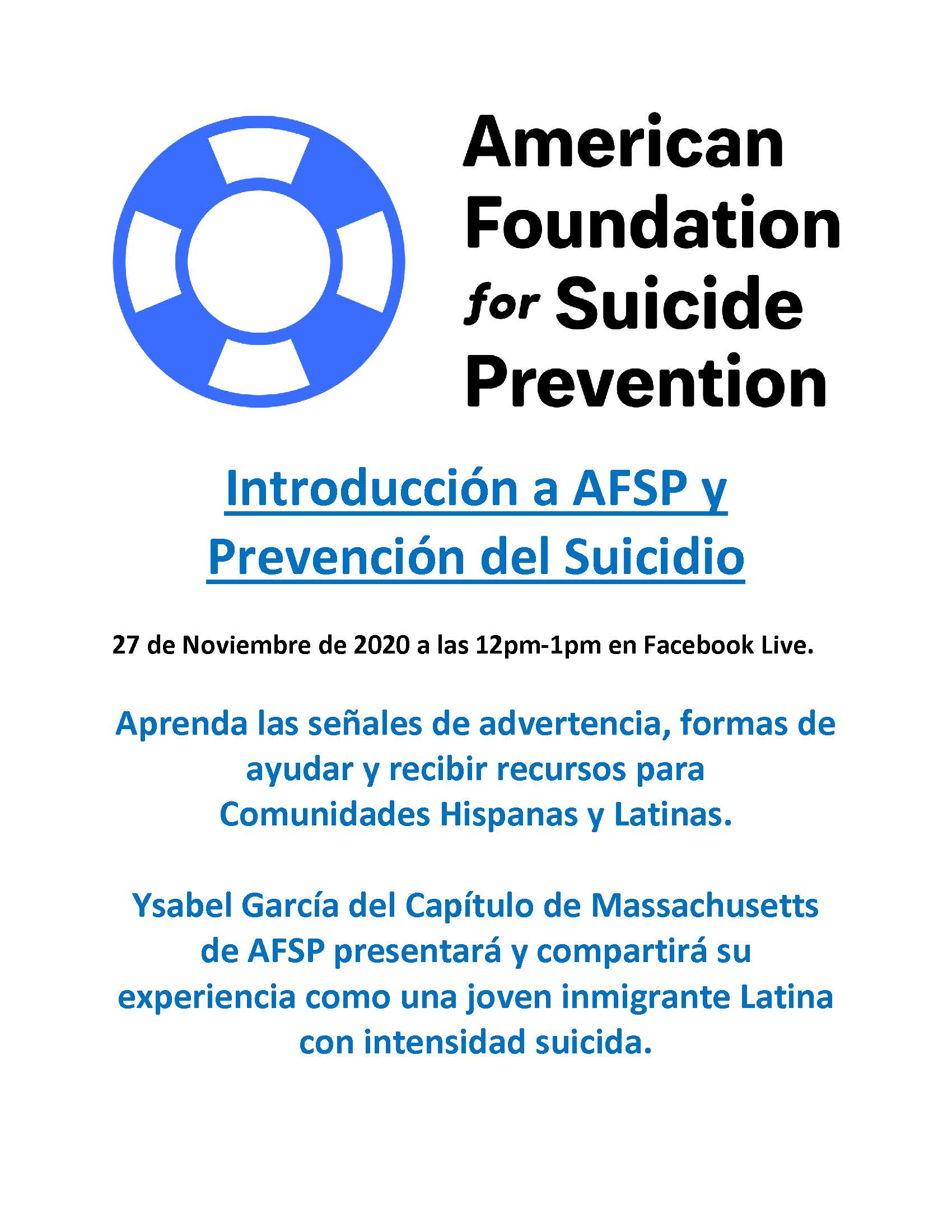 Introduction to AFSP and Suicide Prevent