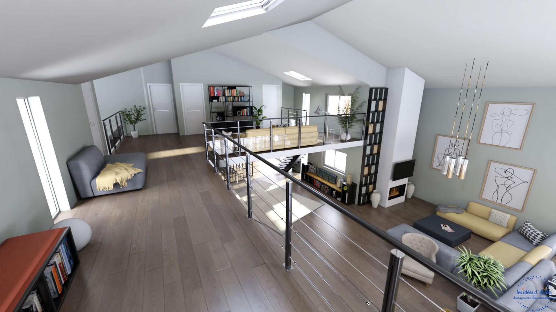 Vue mezzanine - visuel 3D