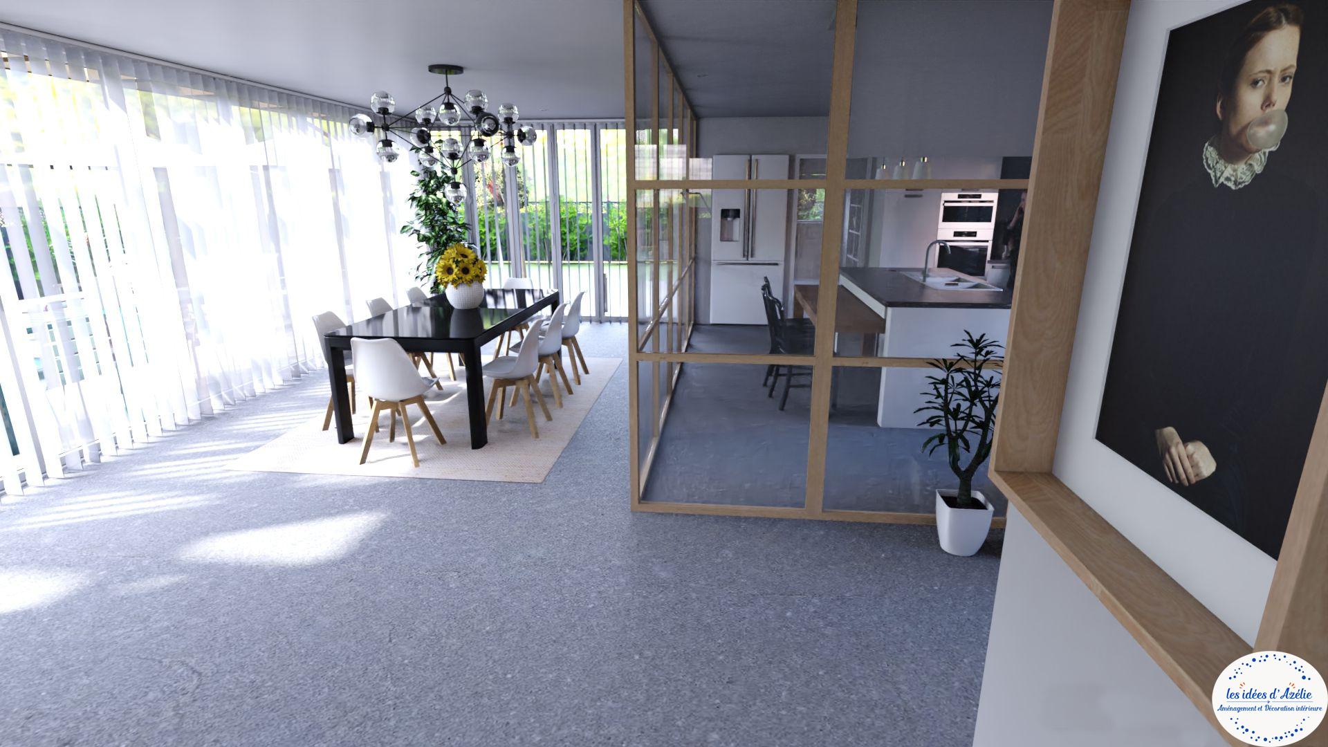 Séparation cuisine et salle à manger