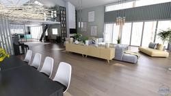 Vue salon depuis la salle à manger - visuel 3D