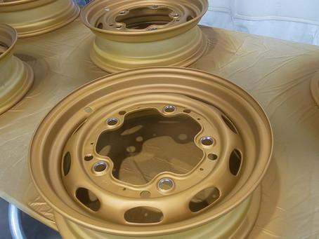 Porsche 356 style wheel paint
