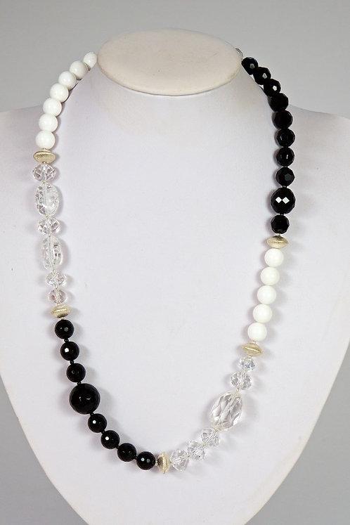 597 - Crystal, onyx,silver