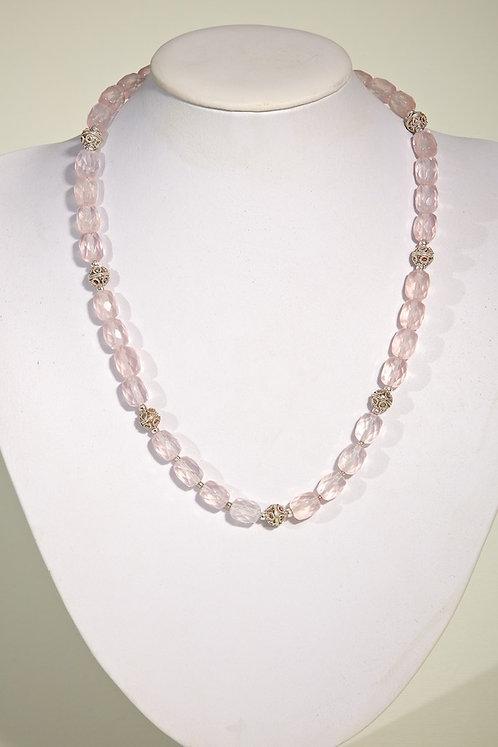 Rose quartz,silver  565