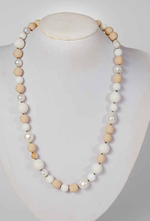 805 - beige coral and pearls   #2