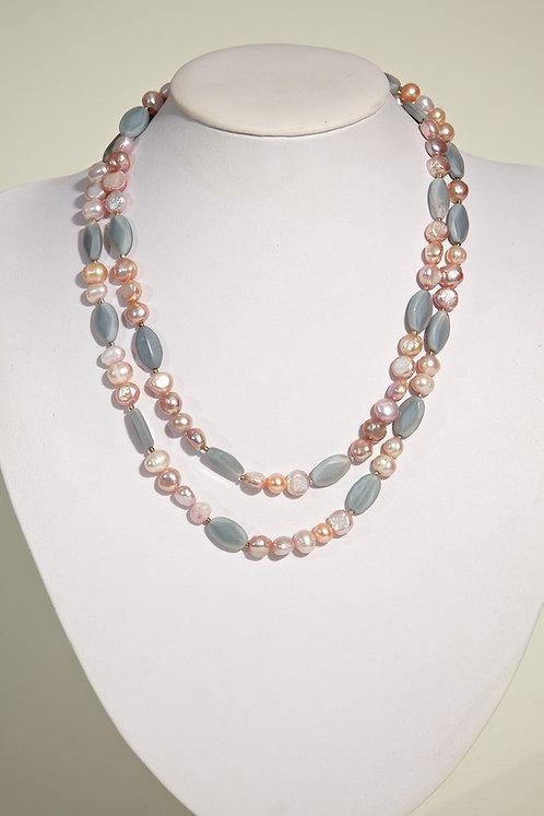 Pearls,grey beads  398