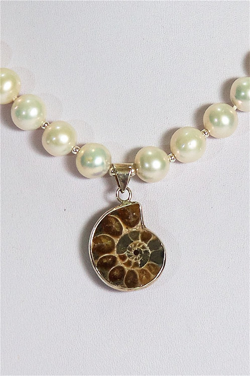 619  Pearls with ammonite