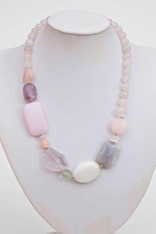 730 -Amethyst, crystal, rose quartz