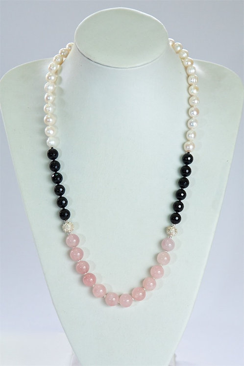 636 Pearls, agate,quartz