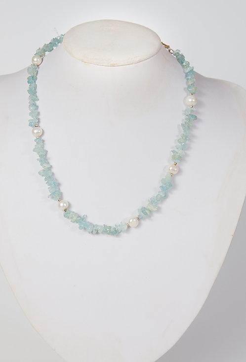 794 - aquamarine with pearls