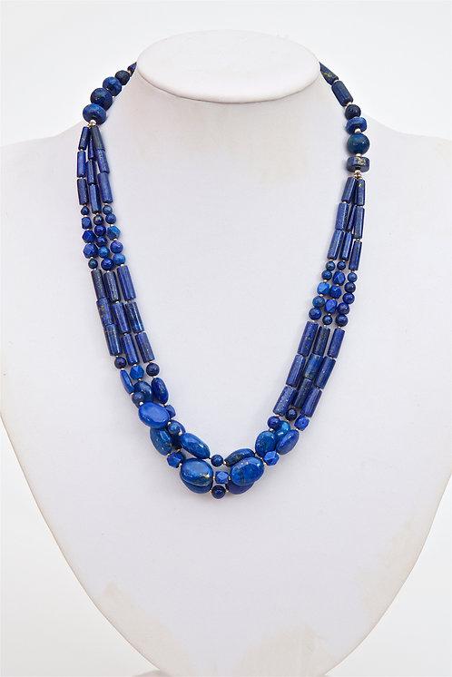 768 -  Triple strand lapis lazuli