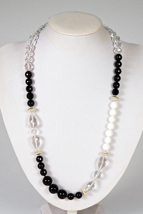 595 - Crystal,onyx,silver