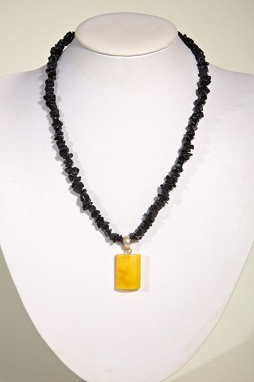 Agate with amber  305
