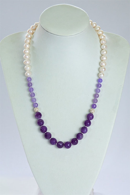 633 Pearls with amethyst
