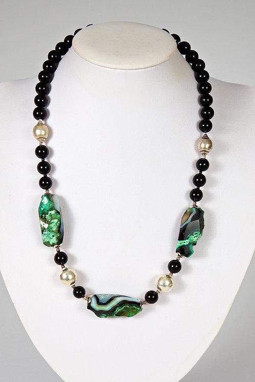 Green/black agate 594