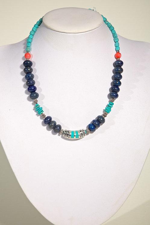 Lapis,turquoise,coral 391