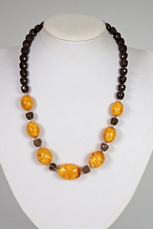 Amber/smokey quartz 616