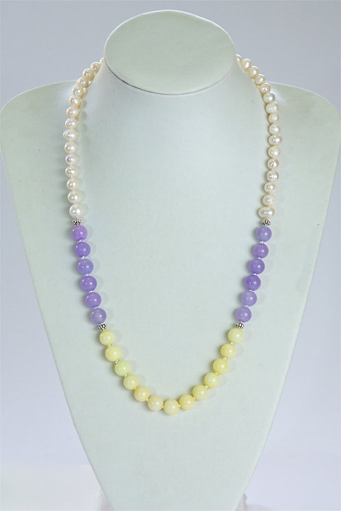 647 Pearls with dyed jade