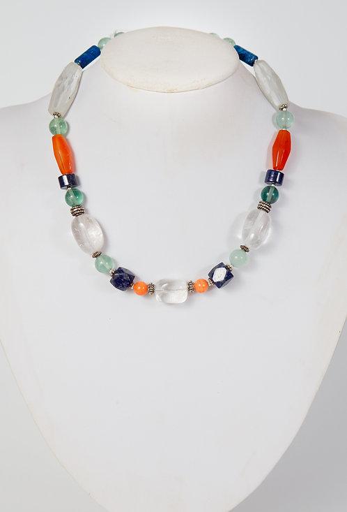 834 - Lapis, agate, quartz, clear centre