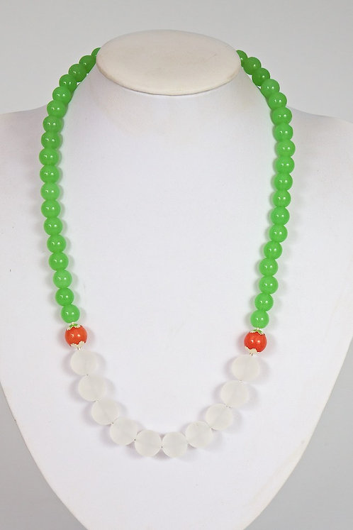 615 -Crystals and dyed jade