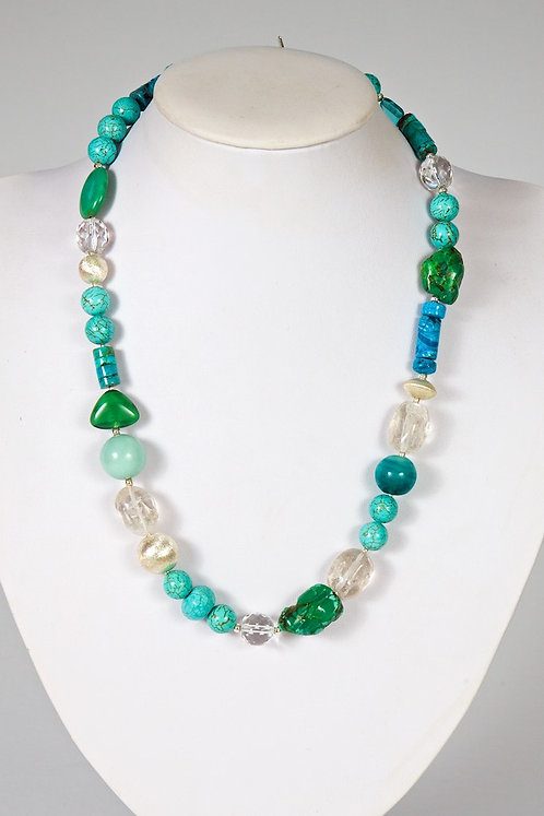 607 - Turquoise, howlite, silver