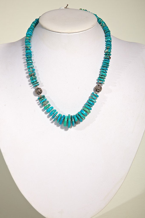 Turquoise, silver  437