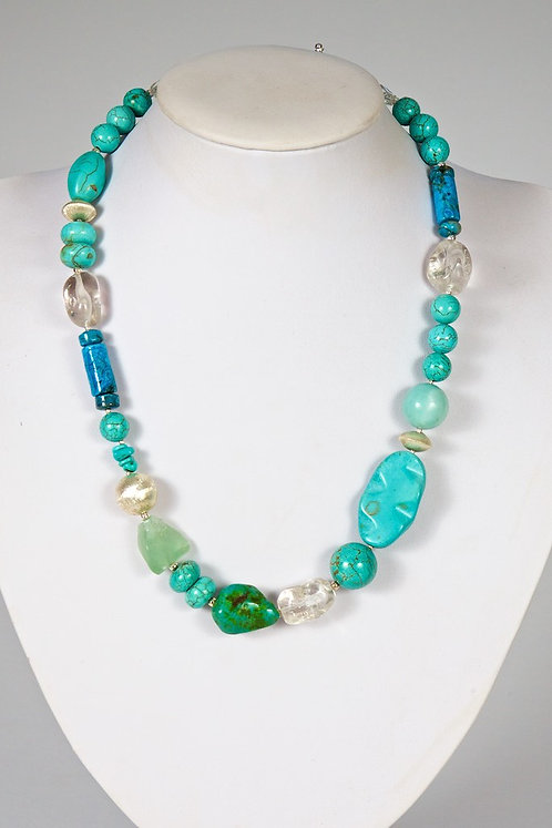Turquoise,howlite,crystal 608