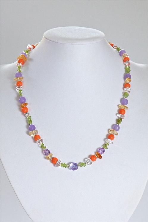 637 Peridot, crystal,coral