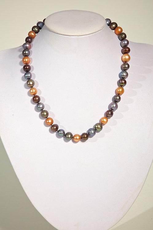 Brown/grey/green pearls 452
