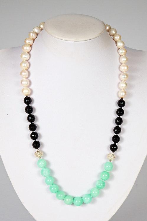 582 - Pearls/agate/jade