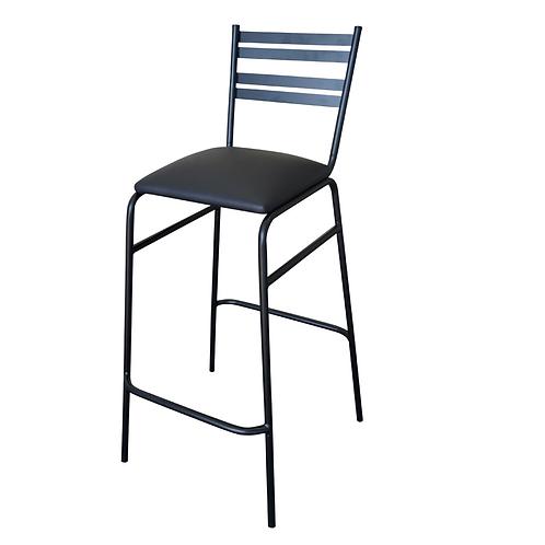 Banco de Metal y asiento tapizado tacto piel para Barras Periqueras