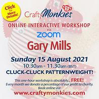 CraftyMonkies Gary Mills FREE Online Interactive Workshop!