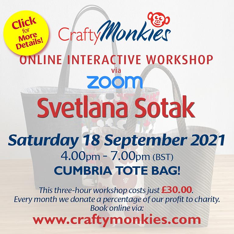 Saturday 18 September 2021: Online Workshop (Cumbria Tote Bag)