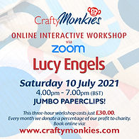 CraftyMonkies Lucy Engels Online Interactive Workshop Jumbo Paperclips!