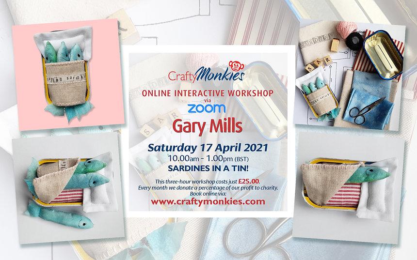 CraftyMonkies Gary Mills Online Interactive Workshop Sardines In A Tin!