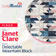 CraftyMonkies_Workshop Video_Janet Clare_Delectable Mountain Block