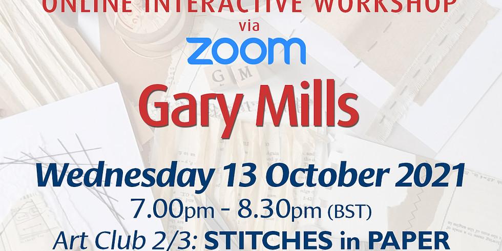 Wednesday 13 October 2021: Online Workshop (Stitches In Paper)
