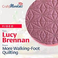 CraftyMonkies Workshop Video Lucy Brennan More Walking-Foot Quilting
