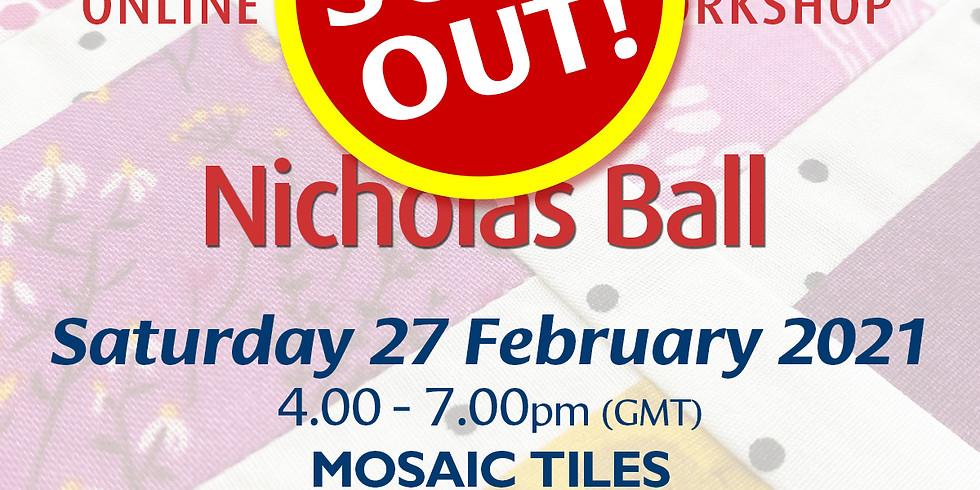 Saturday 27 February 2021: Online Workshop (Mosaic Tiles)