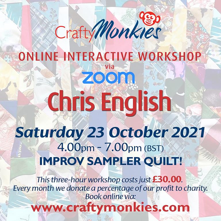Saturday 23 October 2021: Online Workshop (Improv Sampler Quilt)