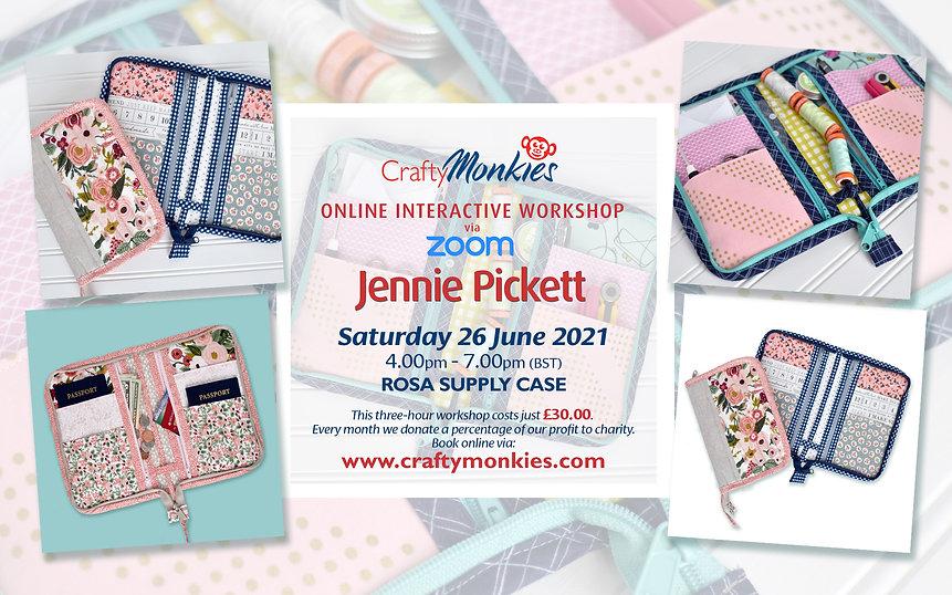 CraftyMonkies Jennie Pickett Online Interactive Workshop Rosa Supply Case