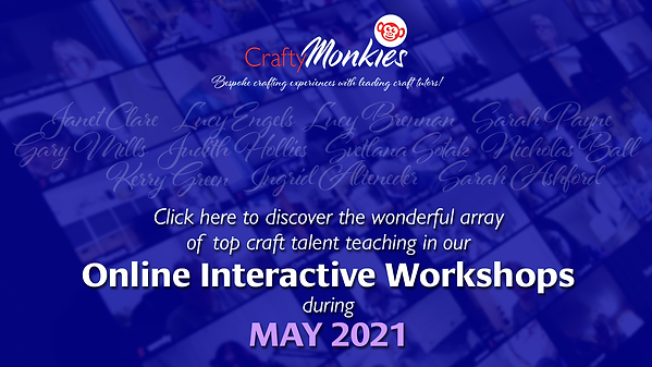 CraftyMonkies_Online Interactive Workshops with leading craft experts!