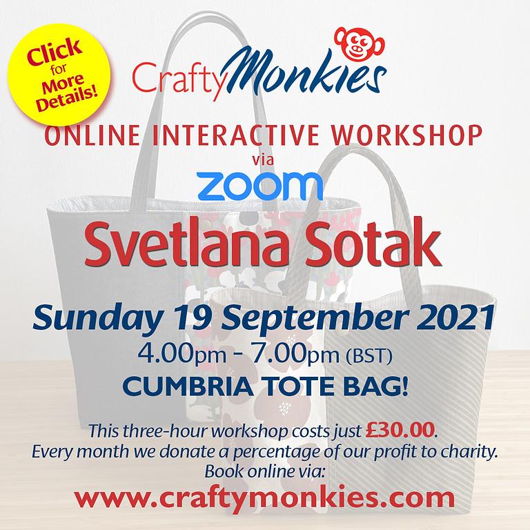 Sunday 19 September 2021: Online Workshop (Cumbria Tote Bag)