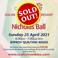 CraftyMonkies Nicholas Ball Online Interactive Workshop via Zoom Improv Ring Technique