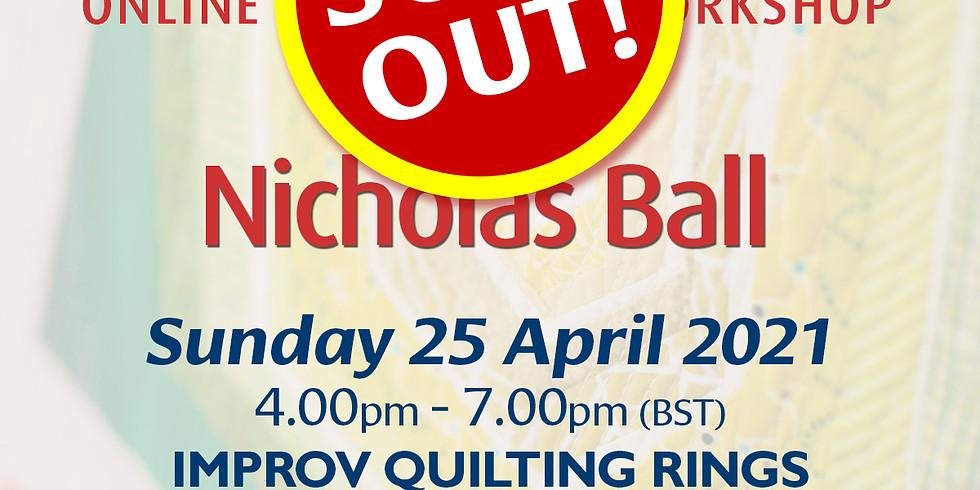 Sunday 25 April 2021: Online Workshop (Improv Quilting Rings)