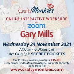 CraftyMonkies Gary Mills Online Interactive Workshops Secret Pockets & Pull-Outs!
