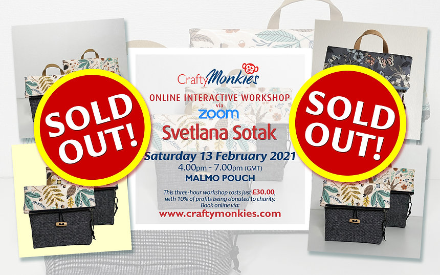 CraftyMonkies Svetlana Sotak Online Interactive Crafting Workshop Malmo Pouch