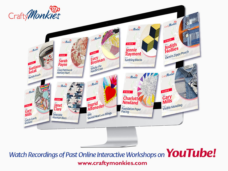 Watch Recordings of Previous CraftyMonkies Workshops via YouTube!
