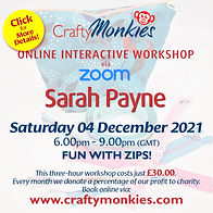 CraftyMonkies Sarah Payne Online Interactive Workshop Zippy Fun!