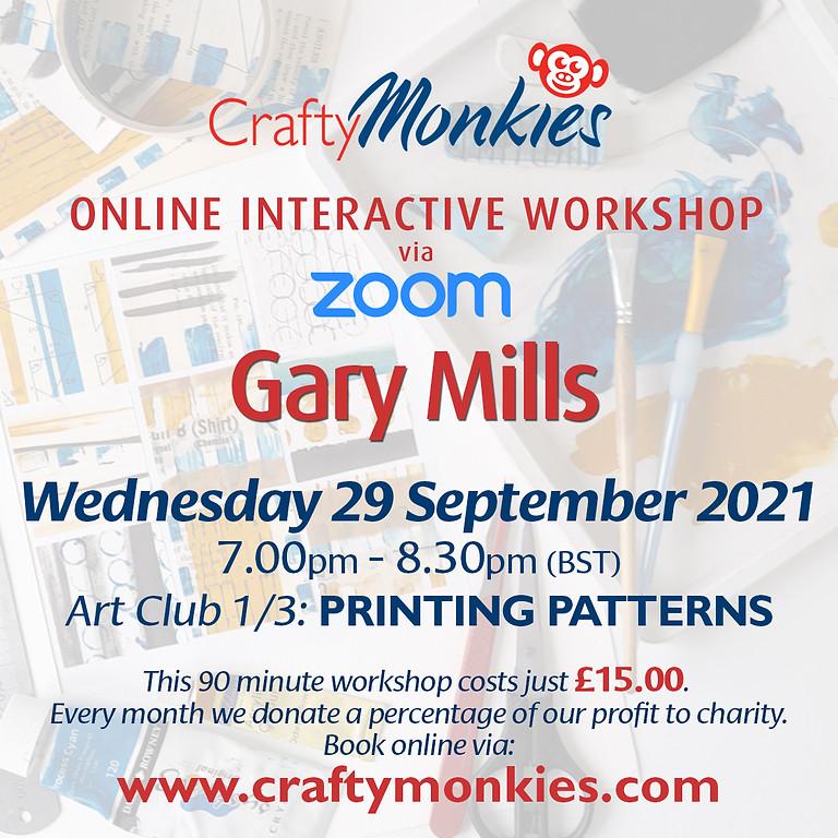 Wednesday 29 September 2021: Online Workshop (Printing Patterns)